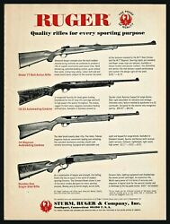 1971 Ruger 77 Bolt 10/22 And 44 Magnum Autoloading And Numbe One Rifle Print Ad