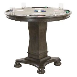 Sunset Trading Vegas 42 Round Counter Height Dining Chess And Poker Table| ...
