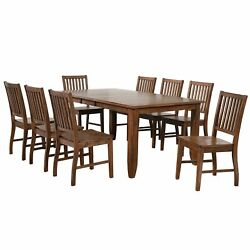 Sunset Trading Simply Brook 9 Piece Extendable Table Dining Set | 8 Slat Back...