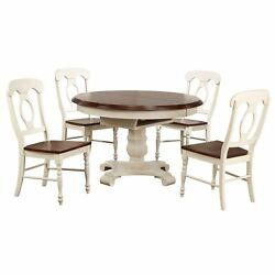 Sunset Trading Andrews 5 Piece Butterfly Leaf Dining Set   Antique White And ...