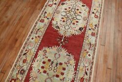 Vintage Turkish Oushak Rug Runner Size 3and0391and039and039x12and0393and039and039