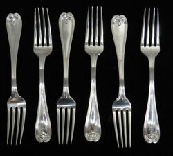 And Co 6 Colonial Sterling Silver 7 1/2 Dinner Forks No Mono