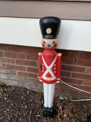 Vintage Soldier 30 Inches Blow Mold Holiday Christmas Yard Decor