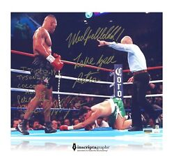 Mike Tyson / Peter Mcneeley Dual Signed 16x20 Photo D/10 Inscribed Jsa Coa Rare