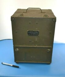 Fine U.s. Army Signal Corp Frequency Meter Calibration Bc-221-ak In Case + Book