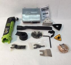 Rockwell Rk2522k2 Used 12v Sonicrafter Oscillating Multi-tool And Accessories