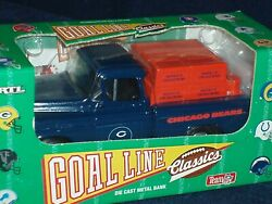 Ertl Nfl Licensed Coin Bank Chicago Bears 1955 Chevy Cameo Pick Up W Coa Nib