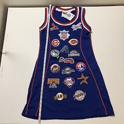 New Mlb Baseball Authentic Jersey Tank Dress National League Team Patches Sz S