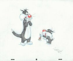 Sylvester The Cat With Sylvester Jr. Looney Tunes Color Art By Virgil Ross