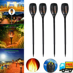 4x96 Led Flickering Led Solar Flame Torch Light Outdoor Garden Yard Pathway Lamp