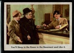 1959 Fleer 3 Stooges You'll Sleep In The Room In The Basement And Like It 4 Ex