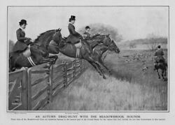 Women Fox Hunting Horsewomen Autumn Drag Hunt With The Meadowbrook Fox Hounds