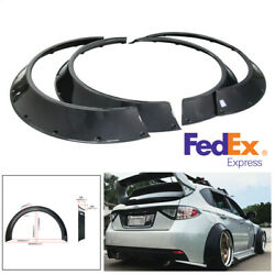 4x 800mm Universal Flexible Pp Car Fender Flares Extra Wide Body Wheel Arches Us