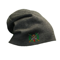 Slouchy Beanie For Men Clay Crest Embroidery Winter Hats Cotton Women Skull Cap