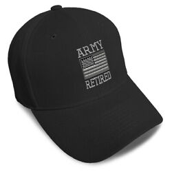Dad Hats For Men Us Army Retired Embroidery Women Baseball Caps Strap Closure