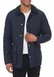 Nwt 368 Polo The Iconic Quilted Coat Car Menand039s Navy Barn Jacket L
