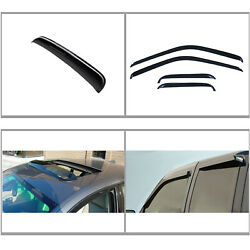 5pcs Vent Shade Window+sun/moon Roof Visors Fit 88-00 Chevy/gmc C/k Extended
