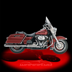 Supertrapp 2-into-1 Supermeg Exhaust Systemchrome For 1985-2006 Harley Touring