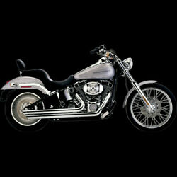 Speedster Exhausts W/powerportslash Down Chrome For 2007-2011 Harley Softail