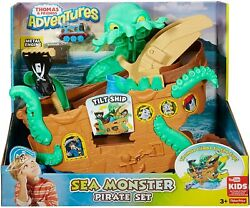 Fisher-price Thomas And Friends Adventures Sea Monster Pirate Set