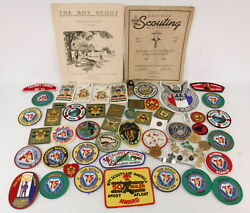 Lot Of Boy And Cub Scout Patches Pins Membership Cards Silver Anniversary Booklet
