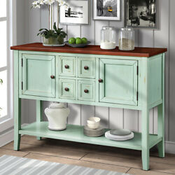 Console Table Buffet Sideboard Sofa Table With Storage Drawers And Bottom Shelf