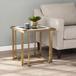 Modern End Sofa Side Table Display Contemporary Home Indoor Mirrored Furniture