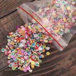 1000Pcs Polymer Clay Nail Stickers Art Decoration Diy Accessories Flower Crafts