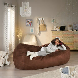 Adult Bean Bag Chair Giant Lazy Couch Dorm Furniture 8ft Sofa Lounge French Toas