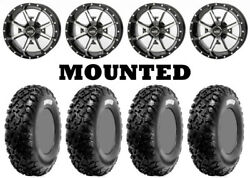 Kit 4 Cst Dingo Tires 28x9-14 On Frontline 556 Machined Wheels Can