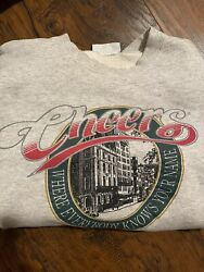 Cheers Boston Vintage 1995 Grey Crewneck Sweatshirt Large