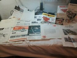 Large Lot 1940and039s And 1950and039s Advertising Cutters Cultivator Air Compressor 3 Point