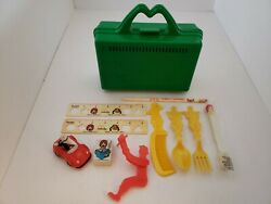 Lot Vintage 1980s Mcdonalds Happy Meal Toys Premiums Toothbrush/rulers/mac/fork
