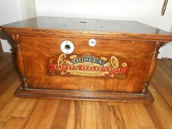 Extremely Rare Antique Kalamazoo Duplez Phonograph Record Player Case Only