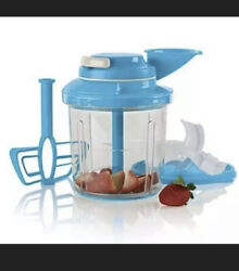 New Tupperware Power Chef System Food Processor Chopper Mix Chop Whisk