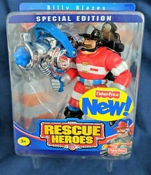 Fisher Price Rescue Heroes Special Edition Billy Blazes New In Unopened Package