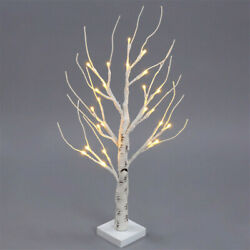 19in 21.6in Pre Lit Birch Tree LED Light Up Branches Twig Party Festival Decors