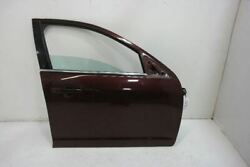 2006-12 Ford Fusion Passenger Front Right Door Wo Side Moulding Holes Burgundy