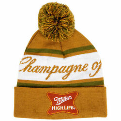 Miller High Life The Champagne Of Beers Knit Cuffed Beanie Yellow