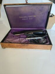 Antique Halliwell-shelton Violet Ray Quack Medicine Electrotherapy Device Works