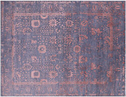 Wool And Silk Hand-knotted Rug 8and039 0 X 10and039 5 - Q6238
