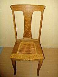 Sikes Buffalo, N Y No 561 Antique Oak Formal T-back Back Dinning Chair