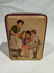 1937 Baseball Player With Family And Gnomes With Mercury Dimes Tin Mechanical Bank