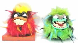 Grumblies Scorch And Tremor Green Plush Interactive Figure Skyrocket Toys Working
