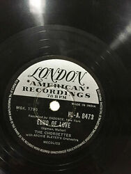 The Chordettes Echo Of Love/just Between You Rare 78 Rpm Record 10 India Ex