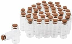 40 Pcs 10ml Mini Glass Jars Bottles With Cork Stoppers Diy Decoration Small