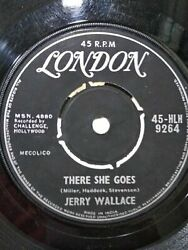 Jerry Wallace There She Goes/angel On My Shoulder Rare India Single 7 Vg+