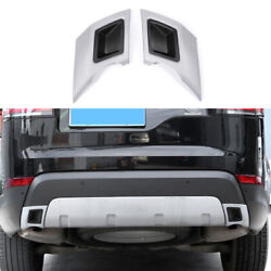 For Land Rover Discovery 5 2017-2020 Black Silver Rear Tail Exhaust Muffler Pipe
