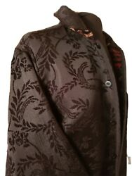 Coldwater Creek Reversible Jacquard Tapestry Jacket Womens Size L Large
