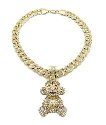 Nba Young Baby 38 Pendant 10mm/182024 Ice Bling Cuban Chain Necklace Rc4115